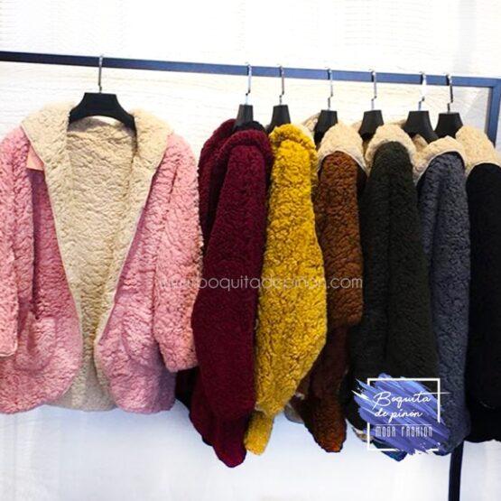 chaqueta borrego reversible