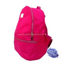 bolso mochila rosa