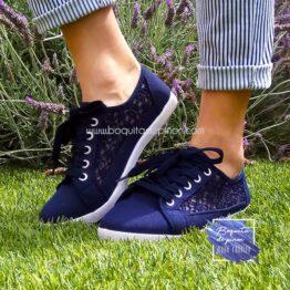 zapatillas azul marino mujer