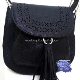 bandolera bolso troquelado