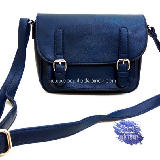 bolso bandolera mujer azul marino