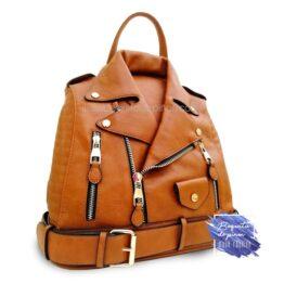 bolso mochila chaqueta marron camel
