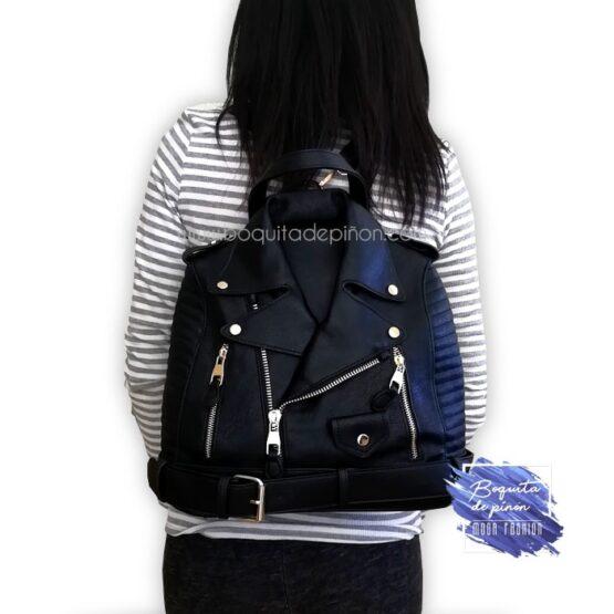 bolso mochila chaqueta negro
