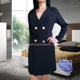 vestido blazer americana cruzada negro