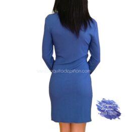 vestido corto con nudo delantero