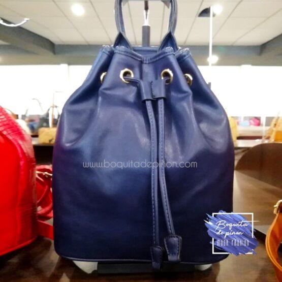 bolso mochila bombonera azul marino