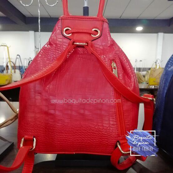 bolso mochila bombonera rojo