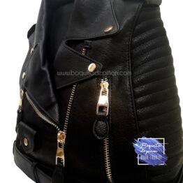 bolso mochila chaqueta negra