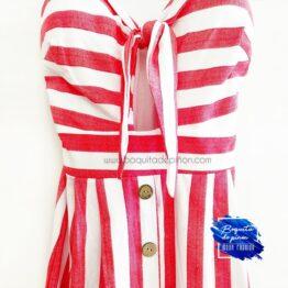 vestido corto tirantes de rayas