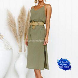 vestido mide tirantes verde