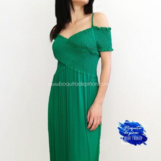 vestido largo escote cruzado