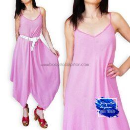 vestido tirantes midi asimetrico