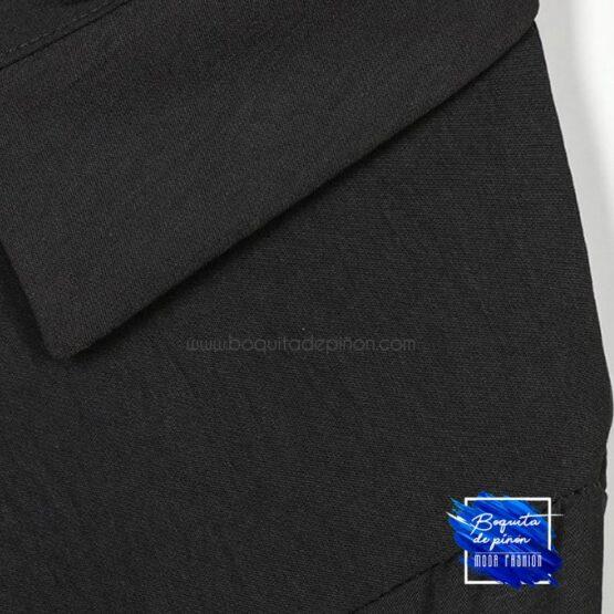 vestido fluido midi negro