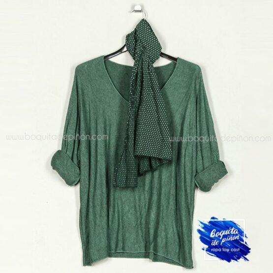 jersey con pañuelo verde abeto