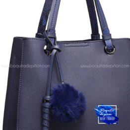 bolso shopper detalle asa azul