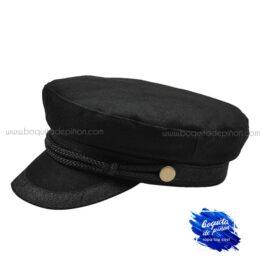 gorra marinera negra mujer