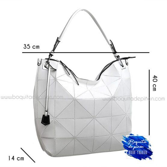 bolso shoppercalado grande blanco