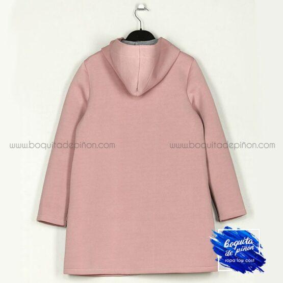 chaqueta neopreno con capucha rosa