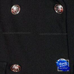 vestido plisado con botones negro