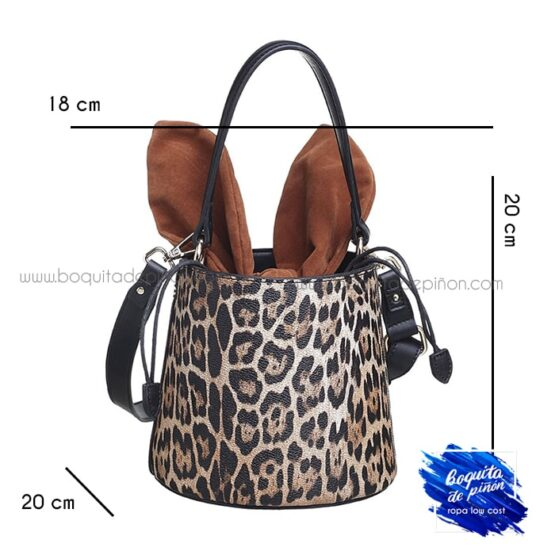 Bolso saco leopardo estampado animal print